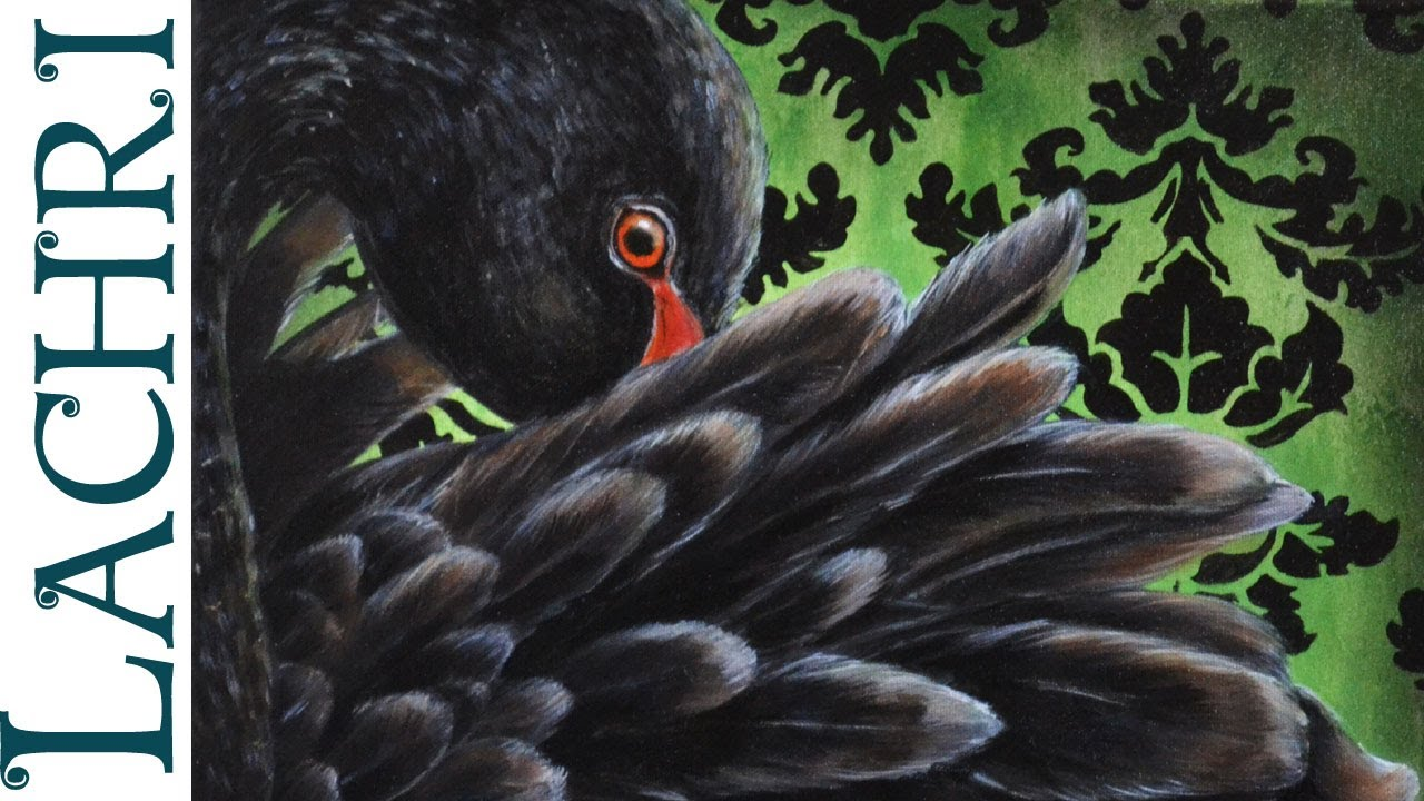 Speed Painting Black Swan In Oil Over Acrylic Time Lapse