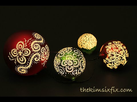 Illuminated Etched Ornaments