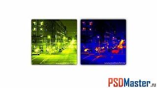 Эффект прибора теплового и ночного видения в фотошопе