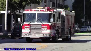 Santa Monica Fire Dept. Engine 6 Responding