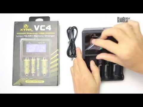 XTAR VC4 Universal Li - ion Battery Charger - Gearbest.com