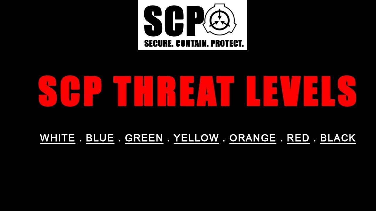 Scp Threat Levels And Meanings Youtube I mean, i don't understand what the thaumiel class really means or what causes an scp to be classified as such. scp threat levels and meanings
