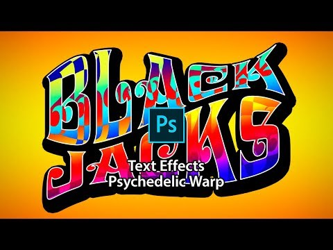 Text Effects of  Psychedelic Warp in Photoshop thumbnail