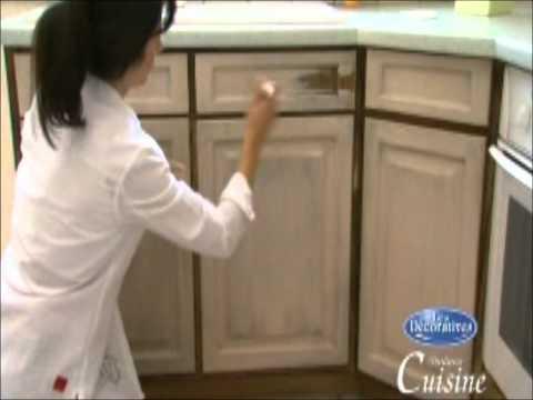 Como aplicar una pintura efecto anticuario a tus muebles de cocina ...