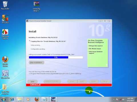 Oracle10G installation on windows 7