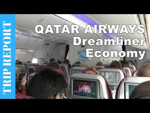 QATAR AIRWAYS ECONOMY CLASS flight to Copenhagen - Boeing 787 Dreamliner Flight Review