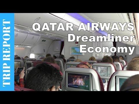 QATAR AIRWAYS ECONOMY CLASS flight to Copenhagen - Boeing 787 Dreamliner Flight Review