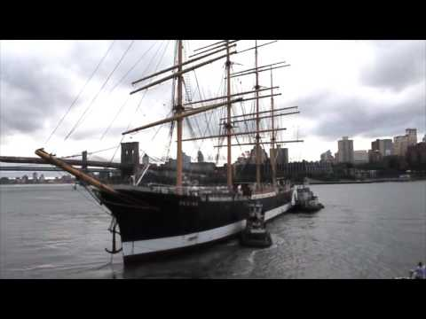 Windjammer Peking Leaves the South Street Seaport for the Last Time