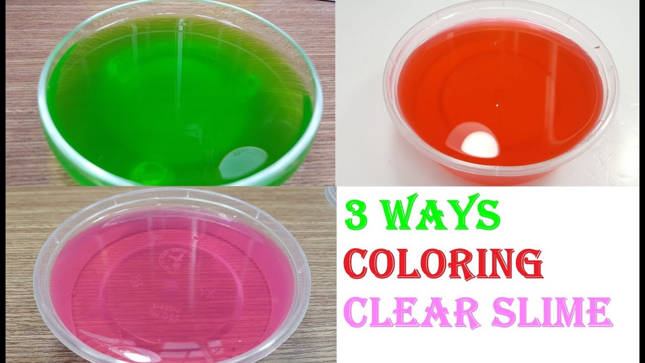 How To Make Clear Slime With Food Coloring