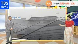 YouTube動画:【6月16日関東の天気】湿った風 あすも天気急変か