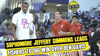 Fishers High School Sophomore Jeffery Simmons Drops 29 pt and Leads Fishers Past Ben Davis