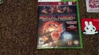 Mortal Kombat Komplete Edition For Xbox 360 Unboxing!! Go See The Dark Knight Rises!!
