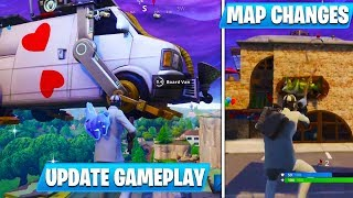 *NEW* Wild Card Skin, Grappler Gun, & NEW MAP GAMEPLAY! - Fortnite Battle Royale Update 5.4 *HUGE*