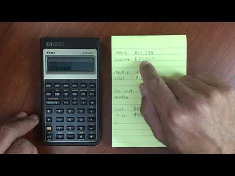 HP 17BII Business Menu and Percentages