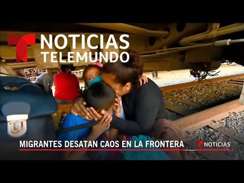 Migrantes desatan caos en la frontera | Noticiero | Telemundo
