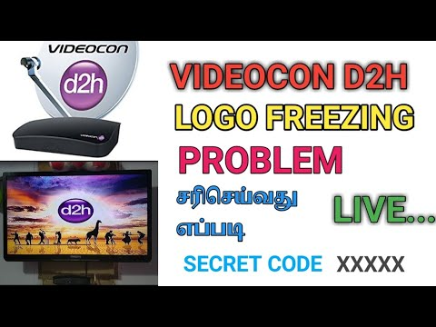How to reset videocon d2h logo freezing problem tamil