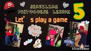 language game predict words Brazilian Portuguese Lesson 5