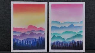 tehnik shading landscape       [color & silhouette] dengan soft pastel screenshot 1