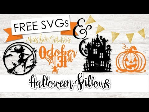 Heat Transfer Halloween Pillows - With FREE SVG Files From Miss Kate Cuttables