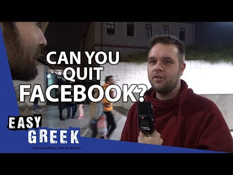 Can you quit Facebook? | Easy Greek 23