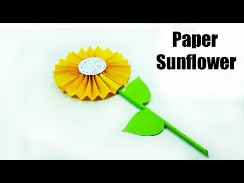 Sunflower Paper Craft : How To Make a Paper Sunflower Origami -  Easy Origami Sunflower