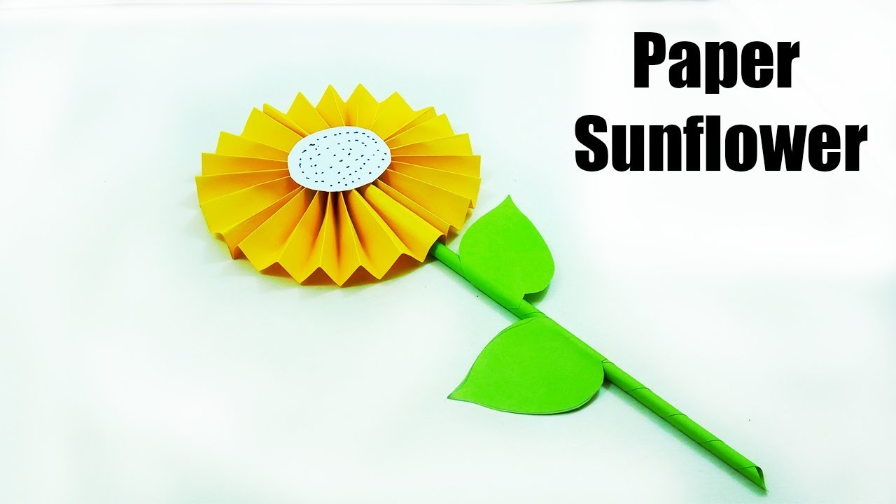 Sunflower paper craft how to make a paper sunflower origami sunflower paper craft how to make a paper sunflower origami easy origami sunflower jeuxipadfo Gallery