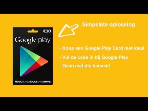 Android apps kopen met Google Play Gift Card en iDeal