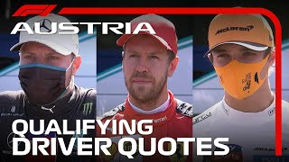 2020 Austrian Grand Prix: Drivers React After Qualifying