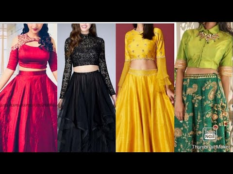 Designer Blouse For Lehenga Crop Top Blouse Designs Ideas For Lehenga Indo Western Blouse Ideas Youtube