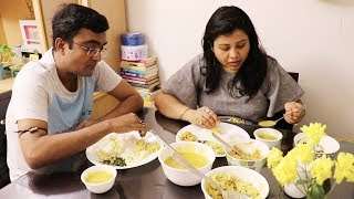 HUSBAND NE BANAYA BOHAT HI YUMMY LUNCH !! Quick & Easy Indian Lunch Recipes / Routine | Hindi Vlogs