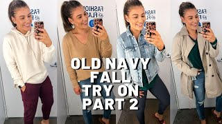 HUGE OLD NAVY FALL CLOTHING TRY ON PART 2