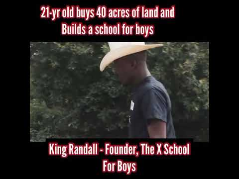 21 year old black man buys 40 acres of land and builds a school for boys