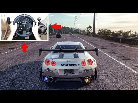 Nissan R35 GTR! Need For Speed Heat Steering Wheel + Pedals Gameplay!