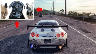 Nissan R35 Gtr! Need For Speed Heat Steering Wheel   Pedals Gameplay!