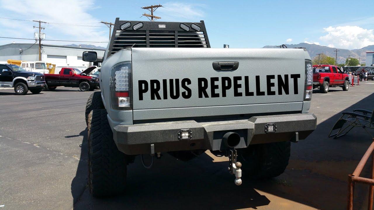 Diesel Exhaust Tip >> Prius Repellent Single Cab Cummins - YouTube