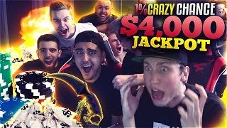 CRAZY 1% CHANCE $4,000 WIN!! (CS:GO SKINS)