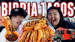 TRYING BIRRIA QUESO TACOS Y CONSOME FOR THE FIRST TIME MUKBANG 먹방 EATING SHOW! (HIGHLY REQUESTED)