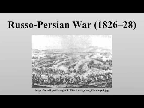 Russo-Persian War (1826–28)