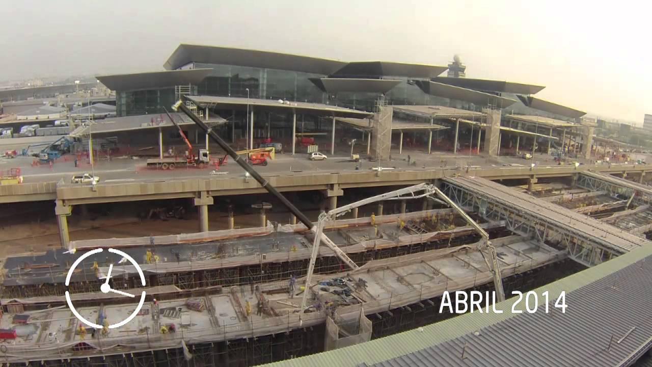Aeroporto Gru : Evolução das obras do novo terminal do gru airport youtube