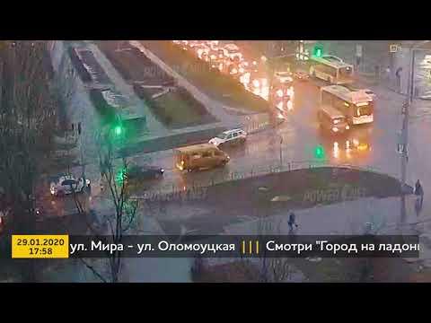 ДТП (сбит пешеход г. Волжский) ул. Мира ул. Оломоуцкая 29-01-2020 17-58