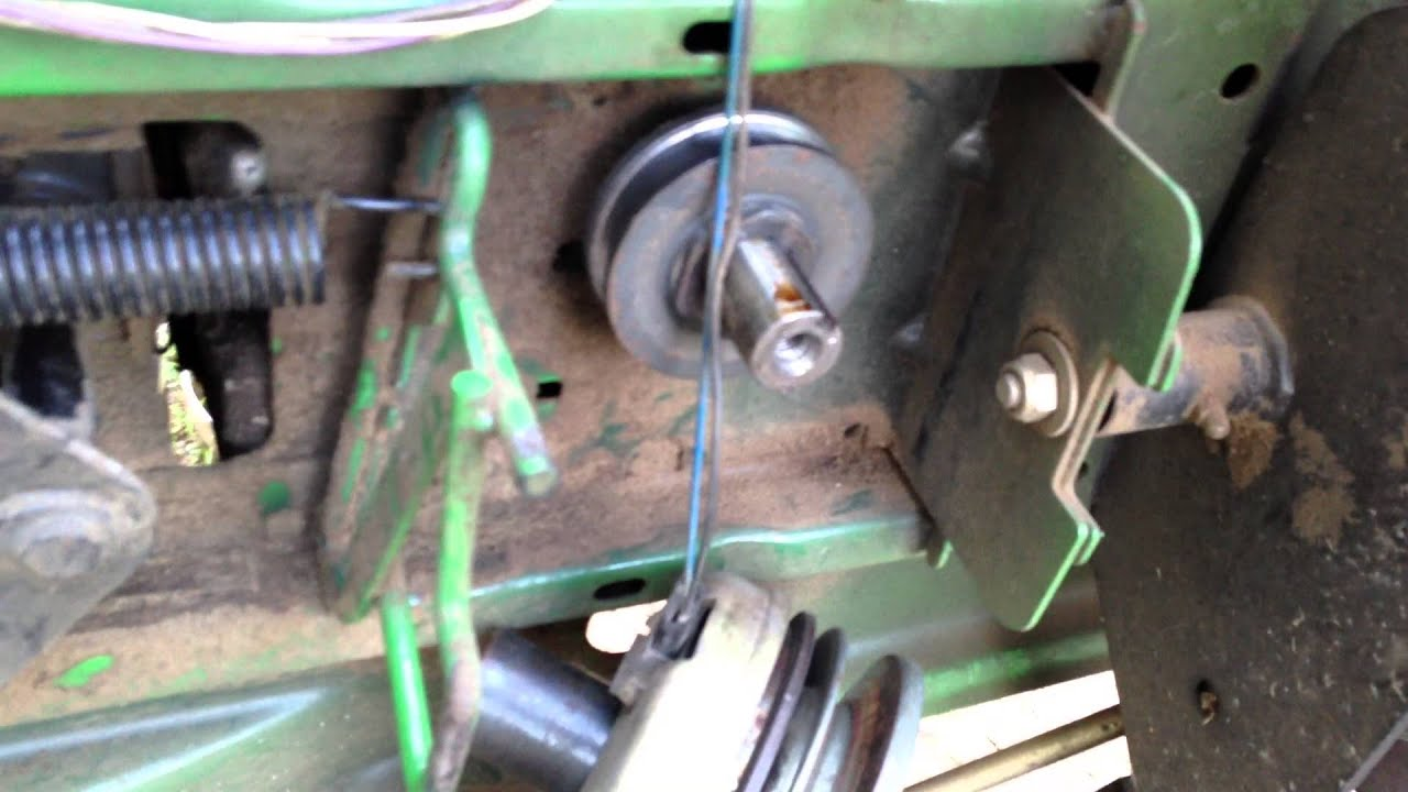 john deere stx 38 drive belt change  YouTube