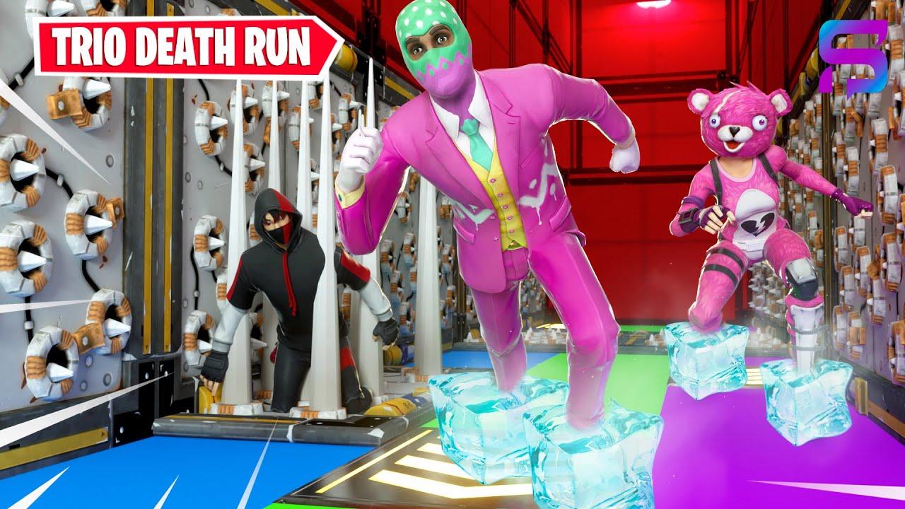 Trio DEFAULT DEATH RUN Race....Fortnite Seasons Gaming