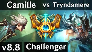 CAMILLE vs TRYNDAMERE (TOP) ~ Legendary, Perfect KDA 16/0/4 ~ NA Challenger ~ Patch 8.8