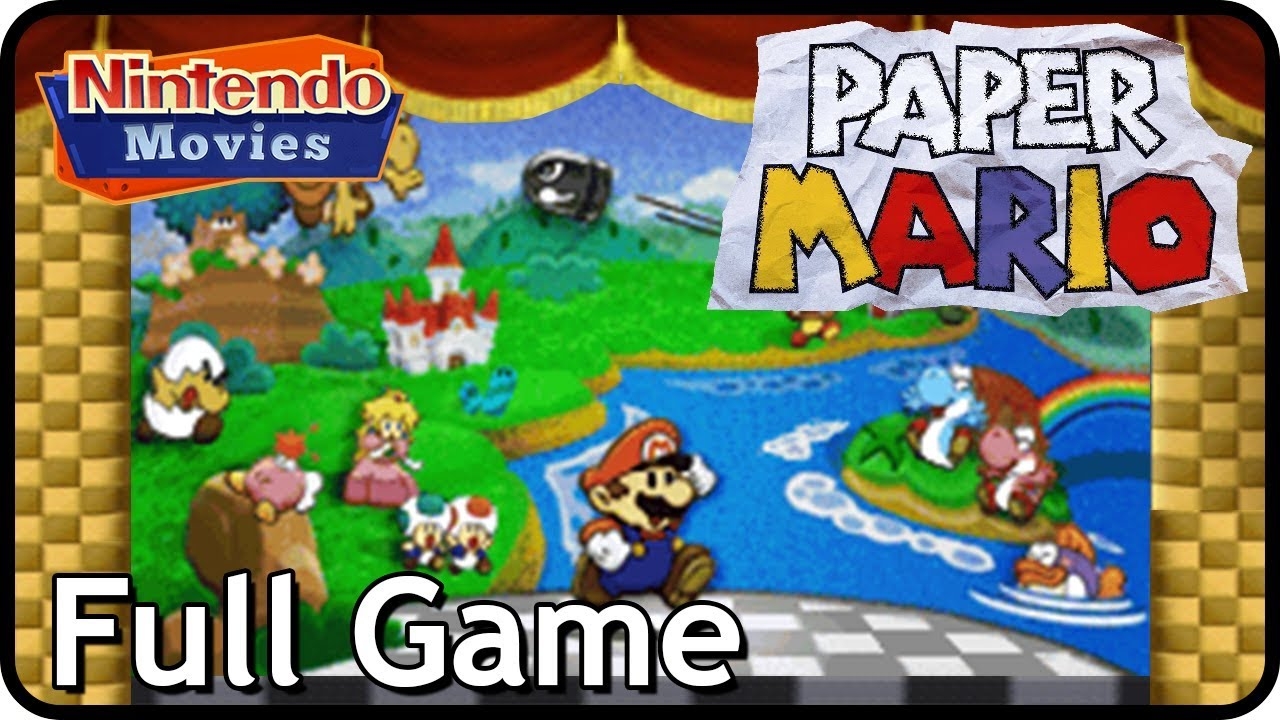 Paper Mario 64 - Full Game (Walkthrough, Everything)