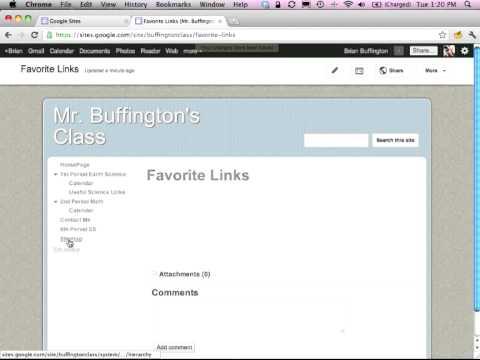 How to create a basic teacher website using google sites youtube how to create a basic teacher website using google sites maxwellsz