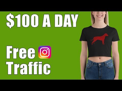 Make $100 A Day With Free Traffic (Print On Demand + Instagr