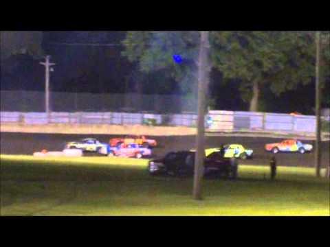 Algona Raceway Austin Luellen Hobby Stock Feature 7-1-14