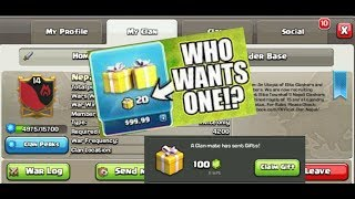 Gem Gift In Clan Nepal!You Have Chance To Get Free Gems In Your Clan!-Clashiversary-Clash Of Clans