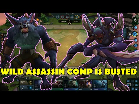 League of Legends (Teamfight Tactics) - WILD ASSASSIN COMP IS BUSTED (Funny Moments)