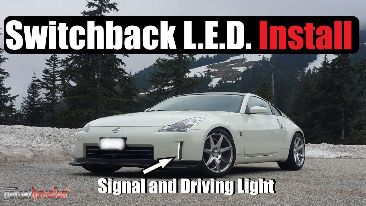 350z Drl Wiring Diagram Detailed Schematics Switchback Led Install Ijdmtoy Nissan Anthonyj350 Youtube Dvd